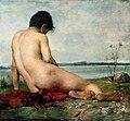 Trębacz Male nude in a landscape.jpg