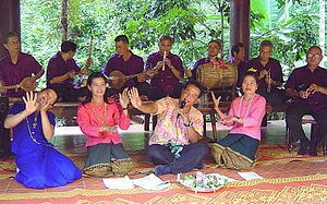 Traditional Thai musical instruments - Thai traditional musical ensembles at Wat Kungtapao Local Museum