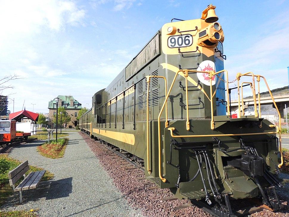 Train Cars at the Railway Coastal Museum in St. John%27s, NL