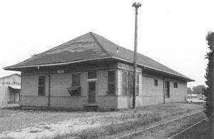 Drew, Mississippi - Train depot in Drew, 1976