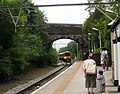 Train at Hadfield - geograph.org.uk - 1378146.jpg