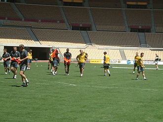The Bhoys from Seville - The Celtic players train at the stadium before the final