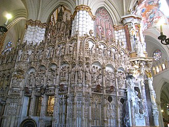 Diego de Astorga y Céspedes - Transparente of the Cathedral of Toledo, side view.
