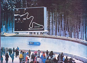 Sarajevo Olympic Bobsleigh and Luge Track - Image: Trebevic Track 1983 DDR