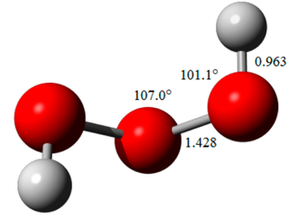 Trioxidane inorganic compound with the chemical formula H[O]₃H (also written as [H(μ-O₃)H] or [H₂O₃]), one of the unstable hydrogen polyoxides (and therefore hydrogen chalcogenides)