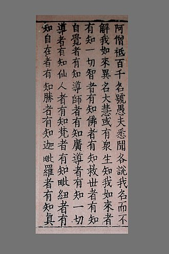 Buddhist texts - Korean Koryo Period Sutra Page