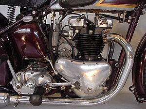 Edward Turner - Close-up of a 1938 Triumph Speed Twin 500 cc engine