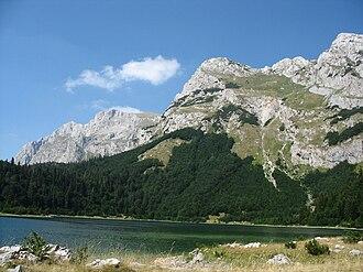 Maglić (mountain) - Trnovačko Lake bounded by Maglić