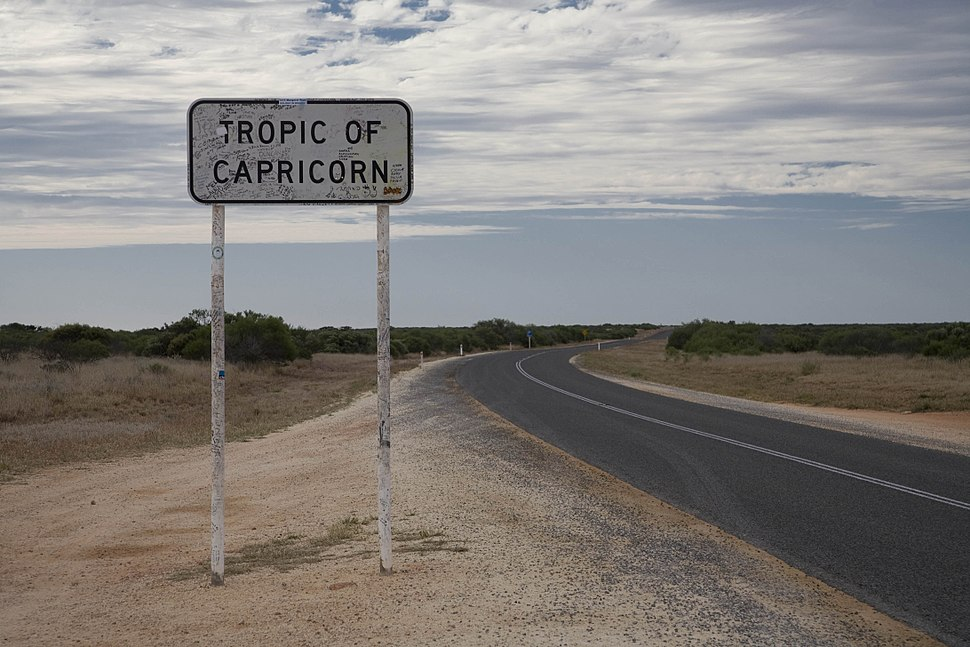 Tropic of capricorn Australia