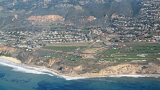 Rancho Palos Verdes, California - Aerial view of Trump National Golf Club