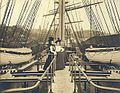 Two women on the deck of an unidentified sailing vessel, Seattle, Washington, 1902 (HESTER 68).jpeg
