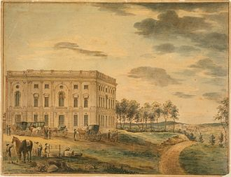 Thomas Birch (artist) - United States Capitol, Completed Northern Wing (circa 1801), engraving, Library of Congress.