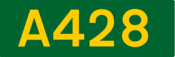 A428 road shield