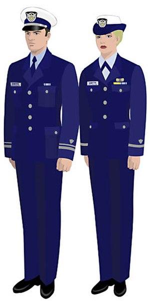 Uniforms of the United States Coast Guard Auxiliary - Image: USCGAUX Service Dress Blue – Bravo