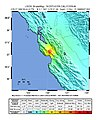 USGS Shakemap - 1989 Loma Prieta earthquake (June 1988 foreshock).jpg