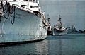 USNS Sanctuary (T-AH-17) and USS Des Moines (CA-134) in 1978.jpg