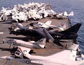 Douglas A-3 Skywarrior - A black RA-3B from VAP-61 aboard USS Constellation, 1967.