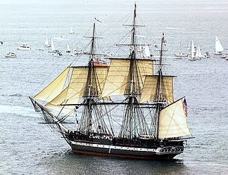 Oliver Wendell Holmes Sr. - USS ''Constitution'' under sail in 1997