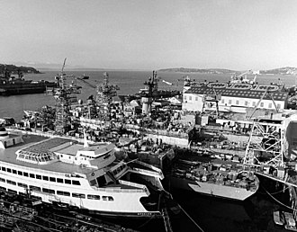 Vigor Shipyards - Image: USS Halyburton FFG 40 under construction