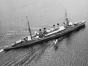 USS Memphis (CL-13) launches Vought O2U on 10 May 1933 (80-G-455864)