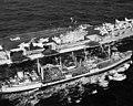 USS Nantahala (AO-60) refuels USS Forrestal (CVA-59) during OP Strikeback 1957.jpg