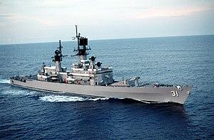 USS Sterett (CG-31) underway on 7 September 1990 (6452265)