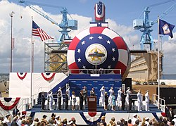 USS Texas (SSN-775) christening ceremony