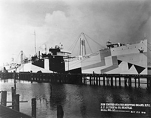 United States Shipping Board - USS West Bridge, the commandeered British ship War Topaz