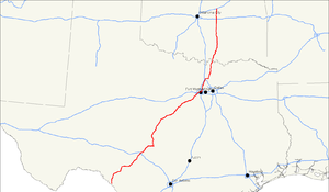 U.S. Route 377 - Image: US 377 map