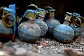 US Air Force 080123-F-1644L-031 Dummy hand grenades used by Marines of 3rd Low Altitude Air Defense Battalion for practice before throwing M-67 Fragment Grenades at the firing range.jpg
