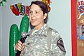 US Army 52964 CAMP LIBERTY, Iraq - Col. Maria Zumwalt, of Bayamon, Puerto Rico, gives a speech highlighting the contributions of Hispanic-Americans at the Multi-National Division-Baghdad Hispanic Heritage Month Obs.jpg