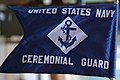 US Navy 040226-N-2383B-064 The guidon flag of the U.S. Navy Ceremonial Guard presented during a full honors ceremony.jpg