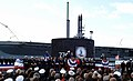US Navy 041023-N-2383B-160 Sailors assigned to USS Virginia (SSN 774), man-the-rails as Capt. David J. Kern takes command.jpg