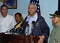 US Navy 050105-N-6020P-115 Secretary of State Colin Powell speaks to members of the international press about the United State's involvement in disaster relief at a press conference held at the Banda Aceh, Sumatra, Indone.jpg