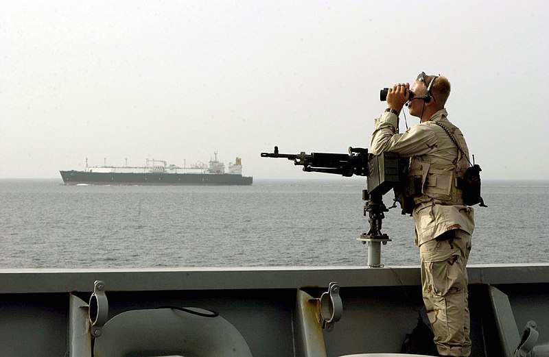 File:US Navy 050505-N-4309A-110 Master-at-Arms Seaman Matthew Ramer assigned to Mobile Security Detachment Two Four (MSD-24) stands watch.jpg
