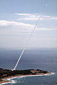 US Navy 081101-N-0000X-002 A ballistic threat target missile is launched from the Pacific Missile Range Facility, Barking Sands, Kauai, Hawaii, enroute to an intercept over an open ocean area northwest of Kauai as part of Pacif.jpg
