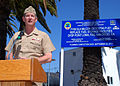 US Navy 090327-N-6357K-021 Rear Adm. Len Hering, commander, Navy Region Southwest, delivers remarks during the ground-breaking ceremony for Military Construction Project 401 at Naval Base Point Loma.jpg
