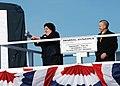 US Navy 111203-N-AW324-148 Ship sponsor Allison Stiller, left, prepares to christen the Virginia-class attack submarine Pre-Commissioning Unit (PCU.jpg