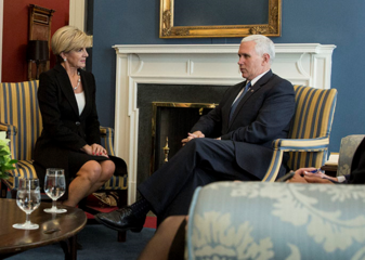 US Vice President Mike Pence Meeting with Australian Foreign Minister Julie Bishop