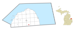 Location within Huron County