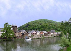 Dausenau - Image: Uferblick Dausenau Uferblick