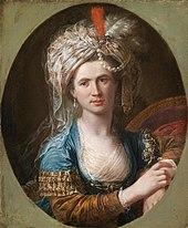 Der Transvestit d'Éon, von dem Beaumarchais geheime Pläne zur Invasion Englands zurückkaufte (um1775). (Quelle: Wikimedia)
