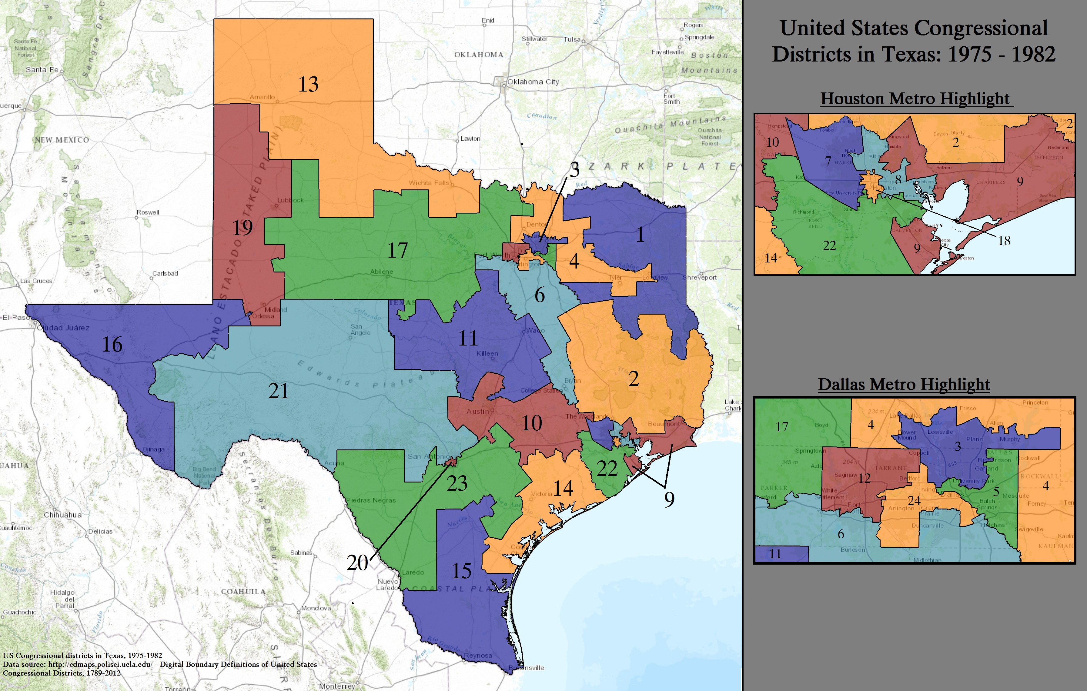 FileUnited States Congressional Districts In Texas 1975