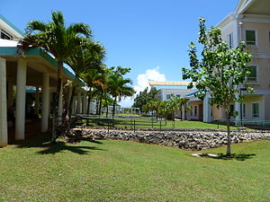 Mangilao kylä: University of Guam Campus