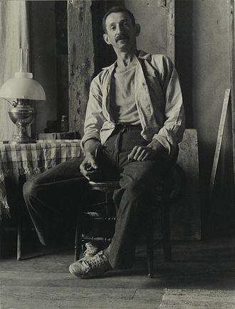 Morris Kantor - Portrait of Morris Kantor by Consuelo Kanaga. Brooklyn Museum.