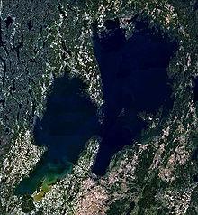 Satellitbild över Vänern