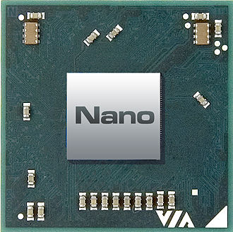 VIA Nano - Image: VIA Nano Chip Image (top)