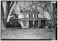 VIEW OF EAST FRONT ELEVATION, WITH SCALE - P. A. Bowen House, 15701 Dr. Bowen Road, Aquasco, Prince George's County, MD HABS MD,17-AQUA,5-4.tif