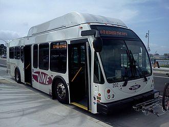 VINE Transit - Vine ElDorado Axess 35' coach parked at Vallejo Station