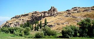 Van Fortress massive stone fortification in Turkey
